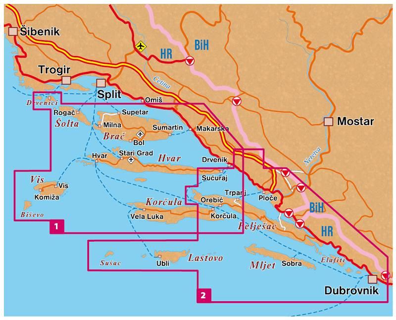 Nove Cyklisticke A Turisticke Mapy Dalmatskych Ostrovu Chorvatsko Cz